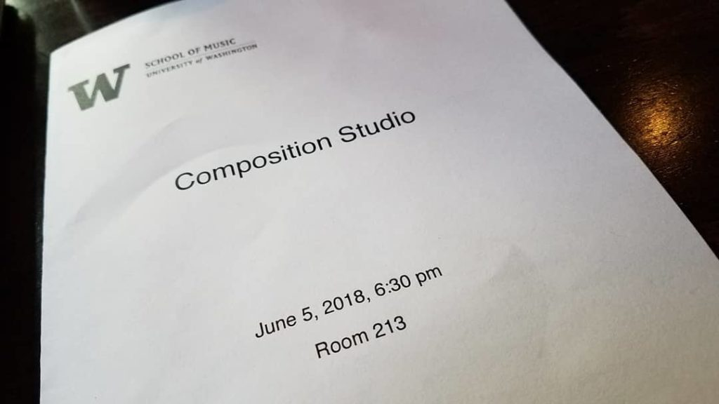 [UW School of Music Composition Studio, June 5, 2018]